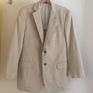 Brooks Brothers 100% cotton men's khaki blazer 41R